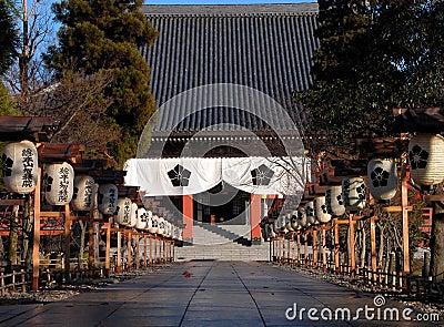 Japanse tempelingang