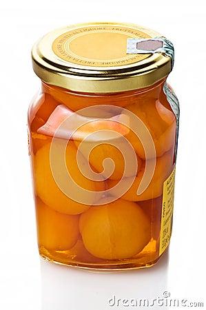 Jar of apricot