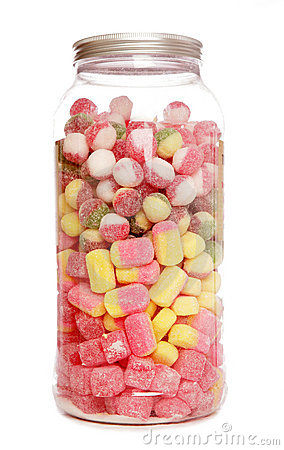 Jar of boiled sweets