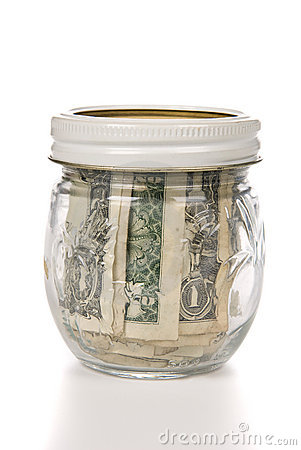 Jar of cash