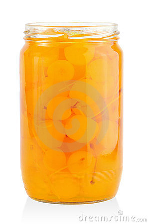Jar with cocktail cherries