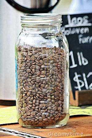 Jar of Coffee Beans