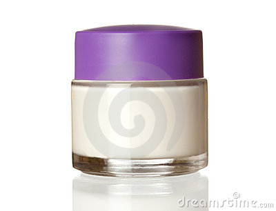Jar of face cream