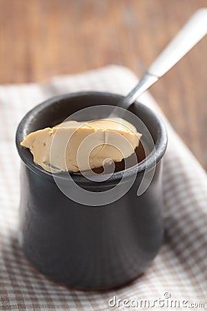 Jar of flan