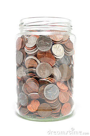 Free Jar Full Of Coins Stock Images - 24488074