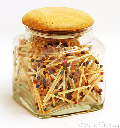 Free Jar Full Of Matchsticks Stock Photography - 4258362