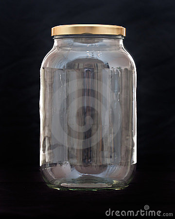 Jar of glass, kitchen fragile container