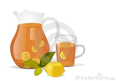 Jar and glass with tea, cdr vector