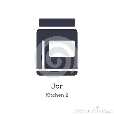 jar icon. isolated jar icon vector illustration from kitchen 2 collection. editable sing symbol can be use for web site and mobile Vector Illustration