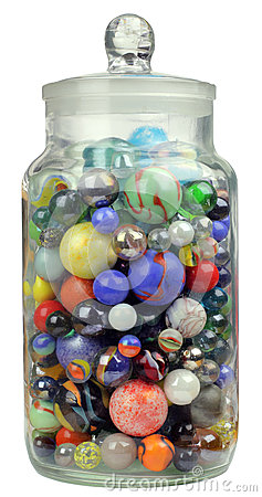 Jar Of Marbles Royalty Free Stock Image Image 31834696