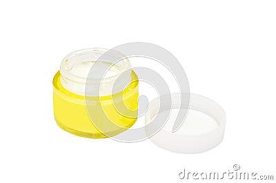 Jar of moisturizer Face cream