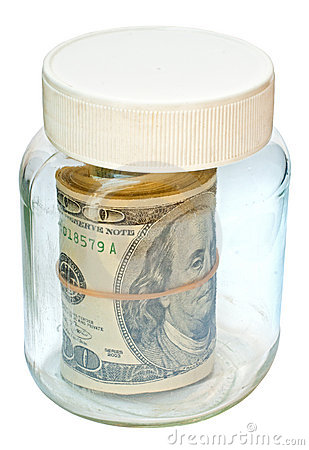 A jar of money