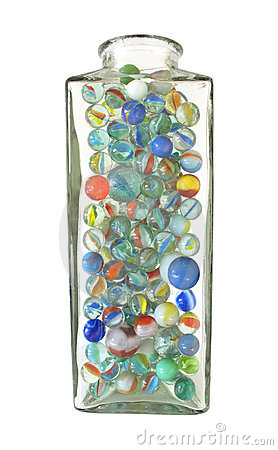 Free Jar Of Marbles Stock Photography - 21277932