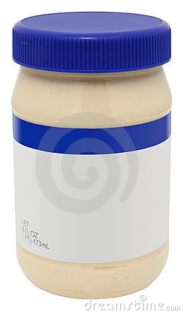 Free Jar Of Mayonaise With Blank Label Stock Photos - 7833923