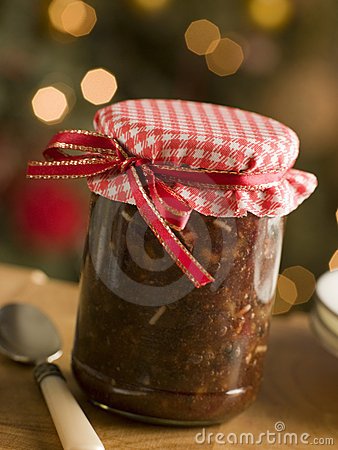 Free Jar Of Mincemeat Royalty Free Stock Photography - 5605597