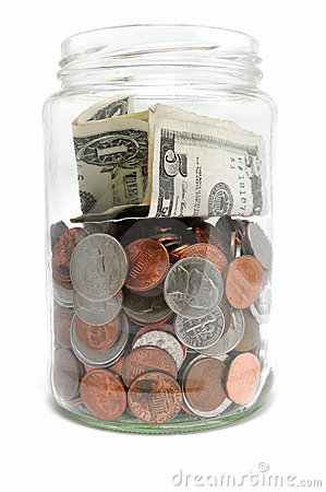 Free Jar Of Money Stock Photo - 12554980
