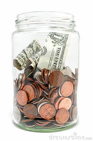 Free Jar Of Money Stock Photo - 12567650