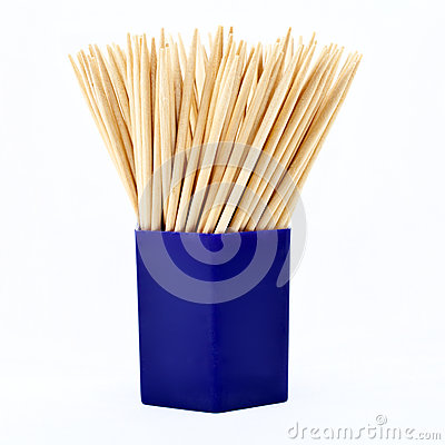 Free Jar Of Tooth Picks Royalty Free Stock Photography - 27354807