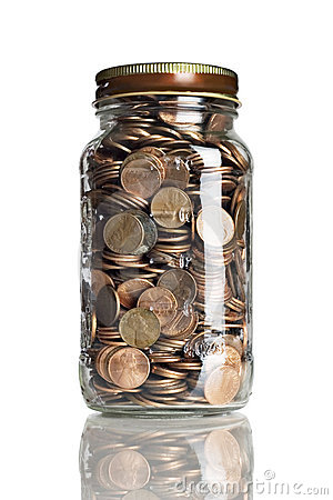 Jar of pennies
