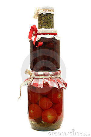 Jar with preserve