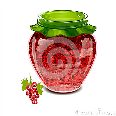 Jar of red currant jam