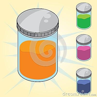 Jar of sample