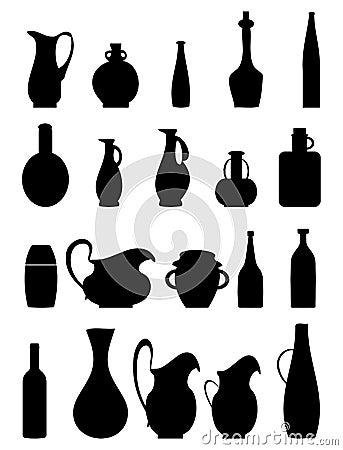 Jar silhouettes