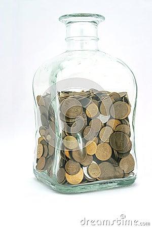 Free Jar With Coins Stock Photos - 170893