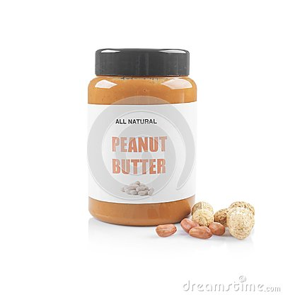 Free Jar With Peanut Butter Royalty Free Stock Images - 111678969