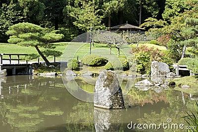 Jardín del japonés de Seattle