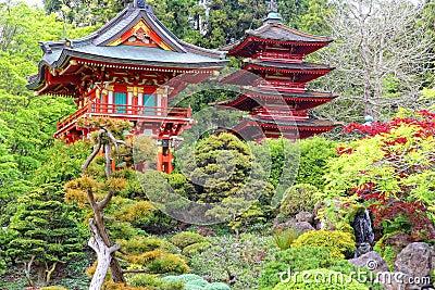Jard n japon s san francisco foto de archivo imagen for Jardin japones hagiwara de san francisco