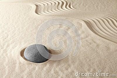 Jardim da meditação do zen