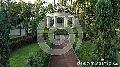 Jardim francês no parque central de Bucha vídeos de arquivo