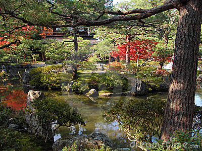 Jardin argenté de temple