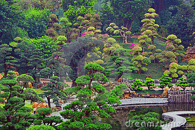 Jardin chinois de zen photo stock image 18947370 for Jardin chinois