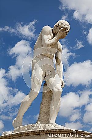 Jardin de paris de tuileries statue de ca n photo - Statues jardin des tuileries ...