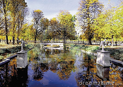 Jardin des tuileries paris france