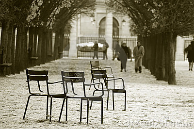 Jardin des Tuileries. Paris, France