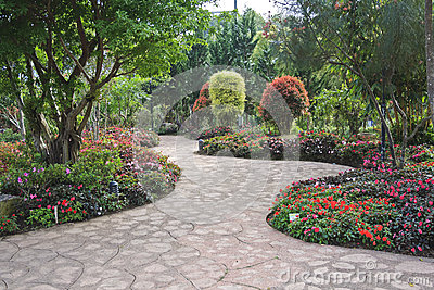 jardin fleuri de conception images stock image 25345854. Black Bedroom Furniture Sets. Home Design Ideas