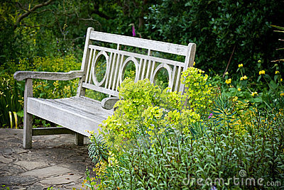 Jardin secret banc de jardin photos stock image 15188733 for Banc jardin anglais
