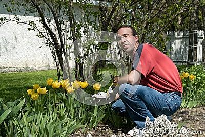 Jardinero feliz