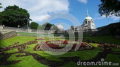 Jardins de terrasse des syndicats à Aberdeen Ecosse Royaume-Uni banque de vidéos