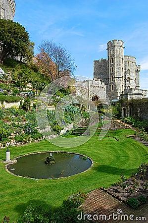 Jardins no castelo de Windsor, Inglaterra