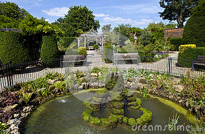 Jardín emparedado en el parque de Brockwell, Brixton.