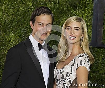 Jared Kushner and Ivanka Trump at 2015 Tony Awards Editorial Photo