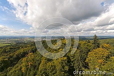 Jarnik lookout view on Pisek