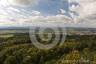 Jarnik lookout view on Pisek