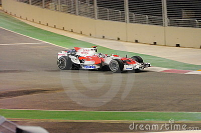 Jarno Trulli Toyota Car In F1 2008 Editorial Image