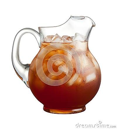 Jarra del té de hielo