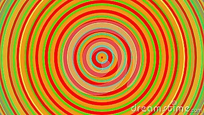 Jaskrawej tęczy koncentryczni okręgi Bezszwowej pętli gładka 3D animacja abstrakcyjny tło zdjęcie wideo